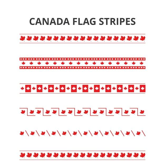 7月1日ハッピーカナダデーカナダフラグストライプパターン 無料ベクター