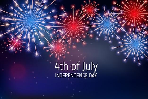7月4日、アメリカ独立記念日 Premiumベクター