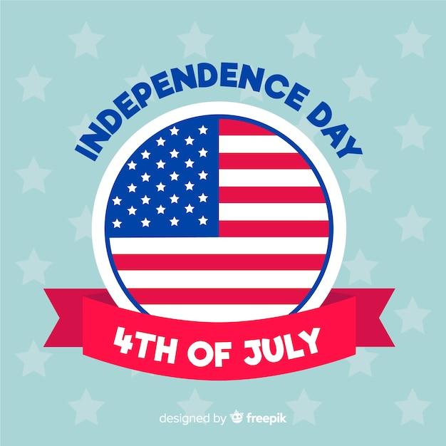 7月4日 - 独立記念日の背景 無料ベクター