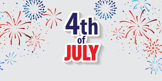 7月の休日の4日おめでとう。 Premiumベクター