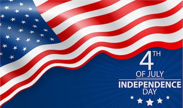7月4日アメリカのお祝いの独立記念日 Premiumベクター