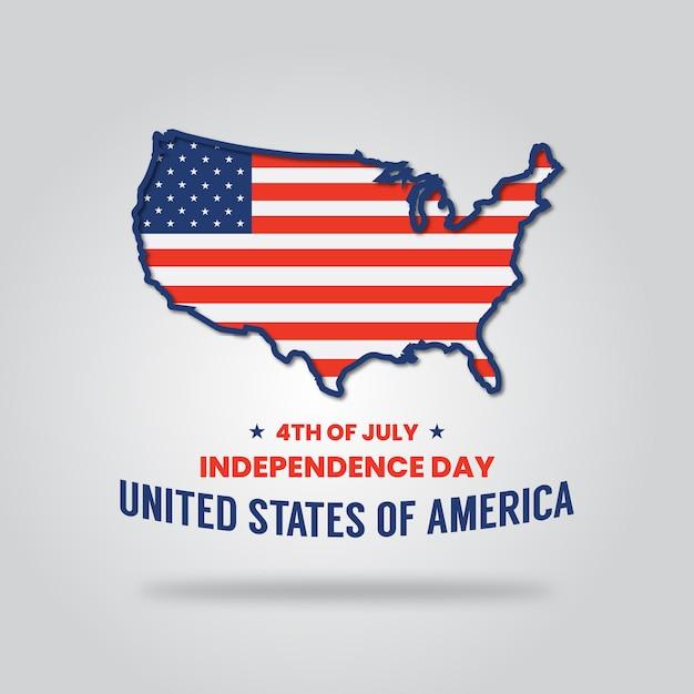 7月4日の独立記念日アメリカ Premiumベクター