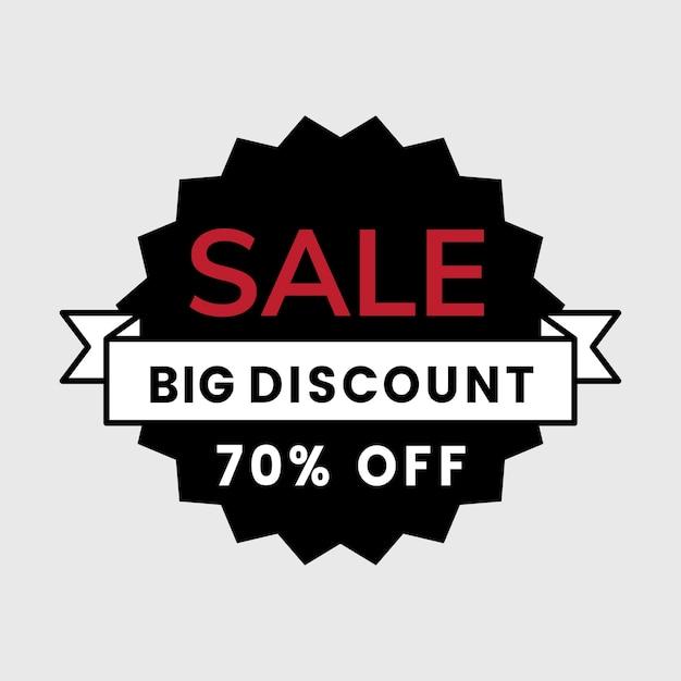 70 percent off sale badge vector Free Vector