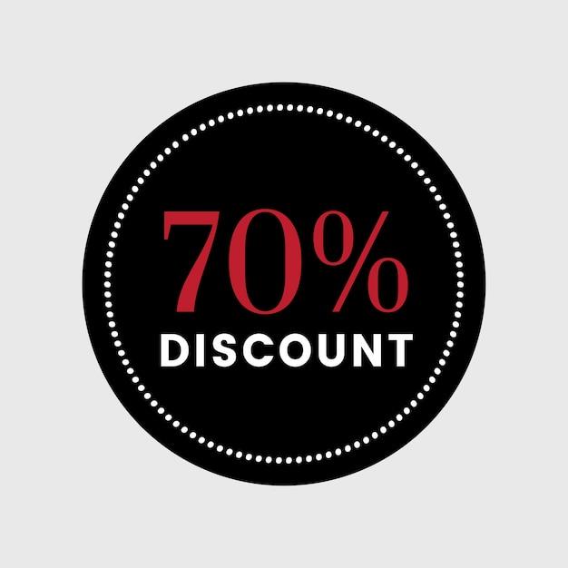 販売バッジベクトルの70%オフ 無料ベクター