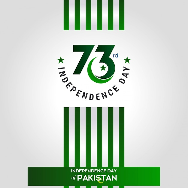 73rd pakistan independence day Free Vector