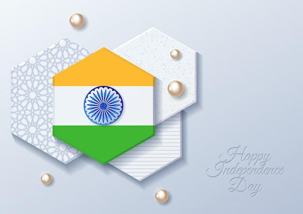 幸せなインドの独立記念日のお祝い -  8月15日 Premiumベクター