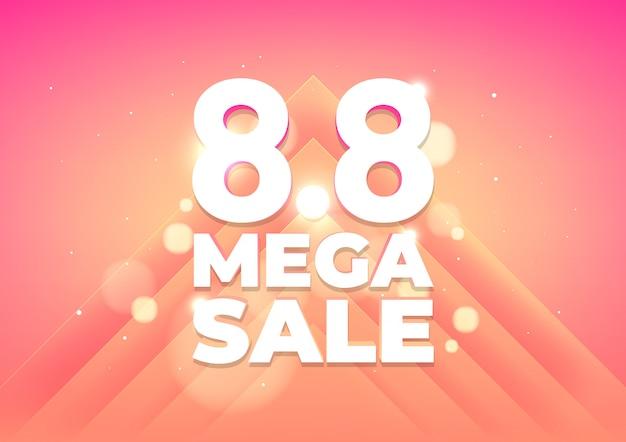 8.8 mega shopping day sale banner. global shopping world day sale banner Premium Vector
