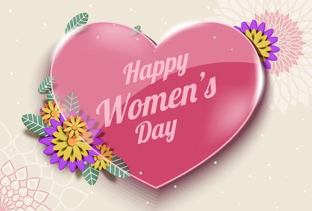 3月8日、ハッピー国際女性の日 無料ベクター