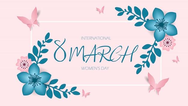 8 march, international women's day, happy mother's day. Premium Vector