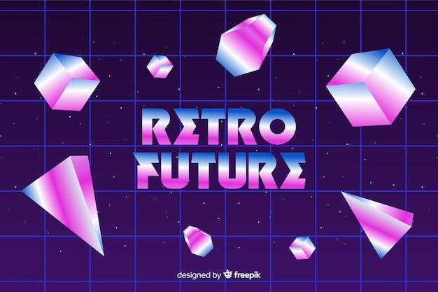 80年代スタイルの幾何学的な背景 無料ベクター