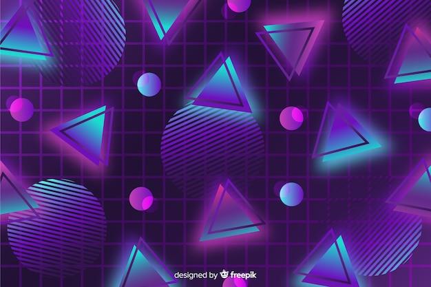 80-х годов геометрический фон плоский дизайн Бесплатные векторы