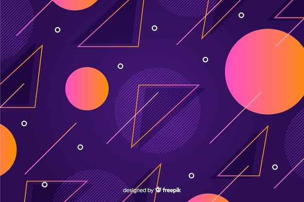 幾何学図形を80スタイルの背景 無料ベクター