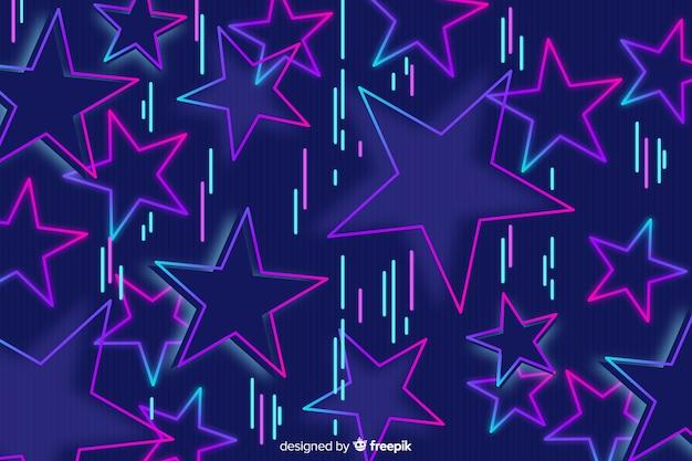 80 стиль фона с геометрическими фигурами Бесплатные векторы