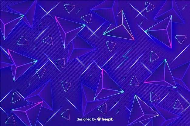 Синий треугольник фон 80-х годов в стиле Бесплатные векторы