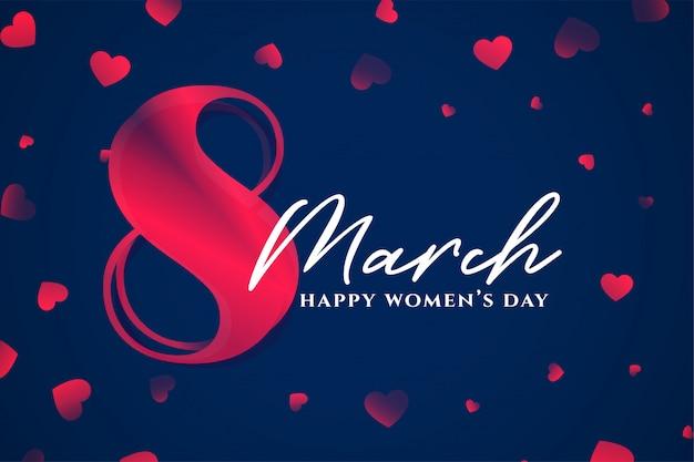 8 марта счастливый женский день стильный фон Бесплатные векторы