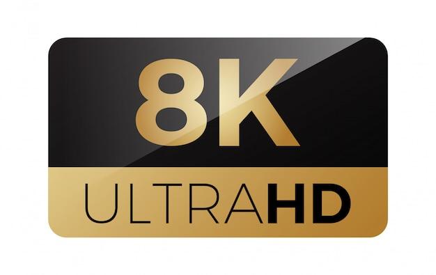 8k video icon Vector | Premium Download
