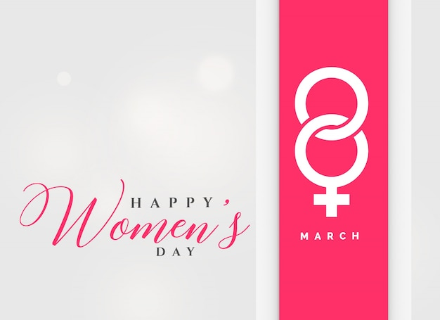 8th march international women's day celebration background Free Vector