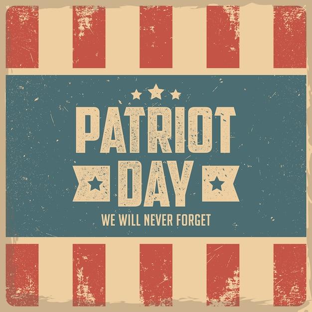 私たちは決して忘れません。 9/11愛国者の日の背景 Premiumベクター