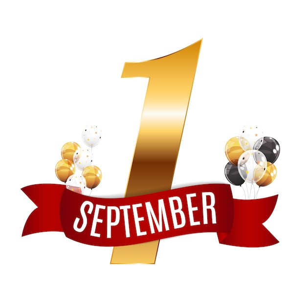 最初の9月1日 Premiumベクター