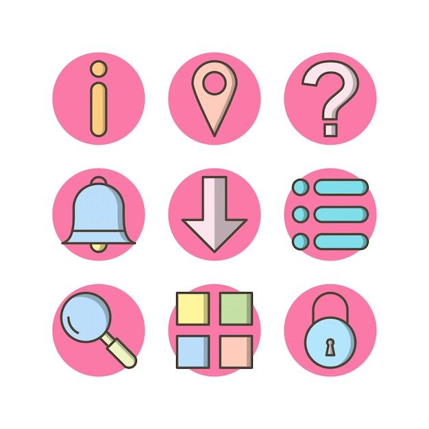 9 основных элементов иконки Premium векторы