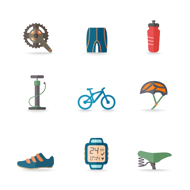 9 bicycle icons