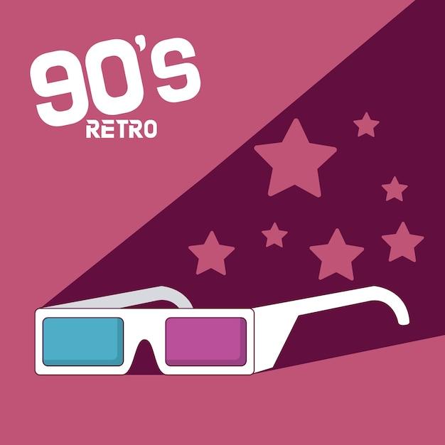 Ретро-мультфильмы 90-х годов Premium векторы
