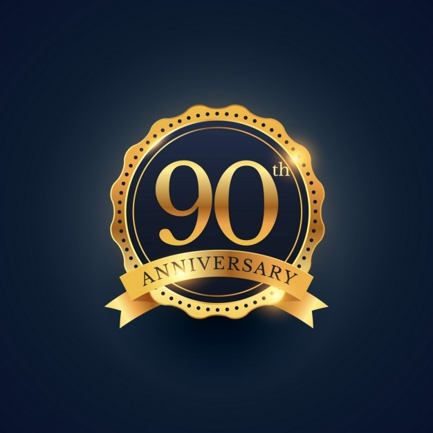 90th anniversary golden edition vector free download