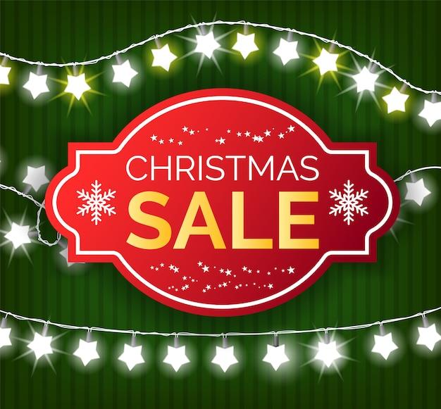 クリスマスセールバナー、ショップのギフトの特別オファー Premiumベクター