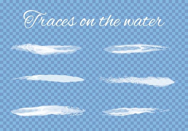 水しぶきのトレース設定透明なベクトル Premiumベクター