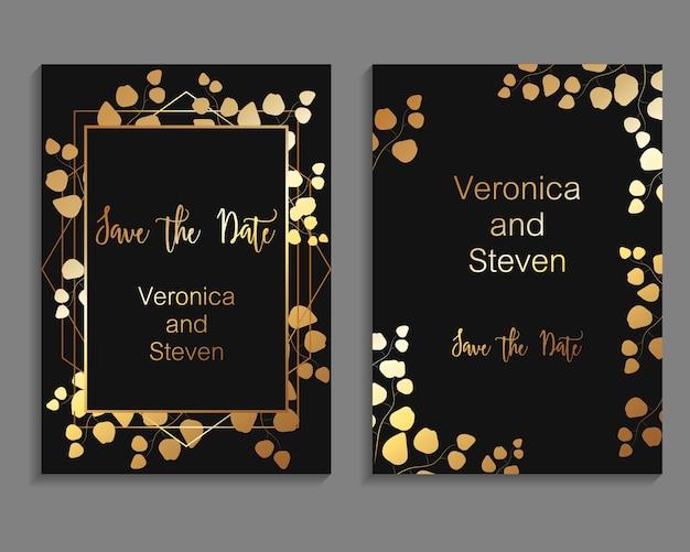 Векторный дизайн для шаблона свадебного приглашения Premium векторы