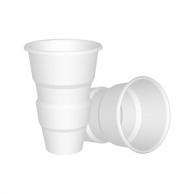 リアルなプラスチックカップ Premiumベクター