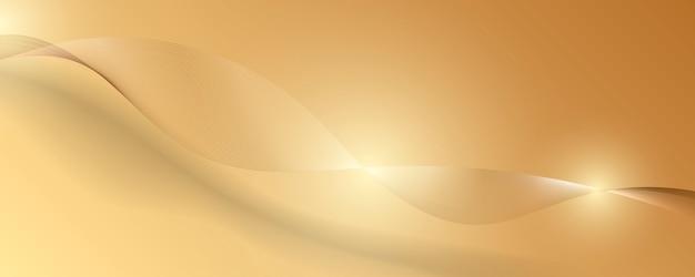 金の豪華な背景を抽象化します。ベクトル図 Premiumベクター