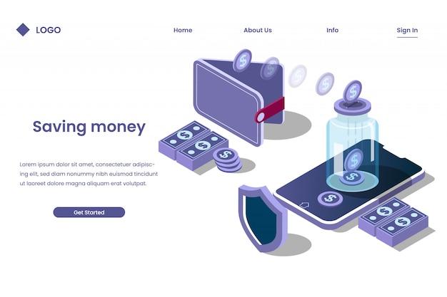 Копить деньги в банке с помощью цифрового процесса Premium векторы