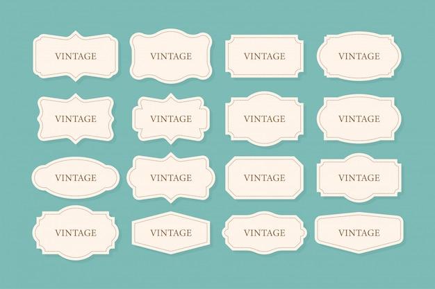 Набор старинных рамок, клипарт. коллекция ретро для декоративных. рамка ретро коллекция для декоративных. иллюстрации. Premium векторы