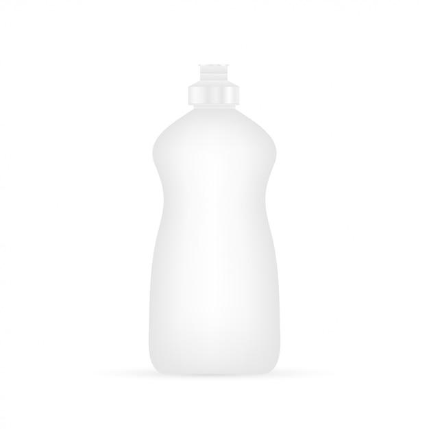 Посудомоечная жидкость. бутылка для чистки Premium векторы