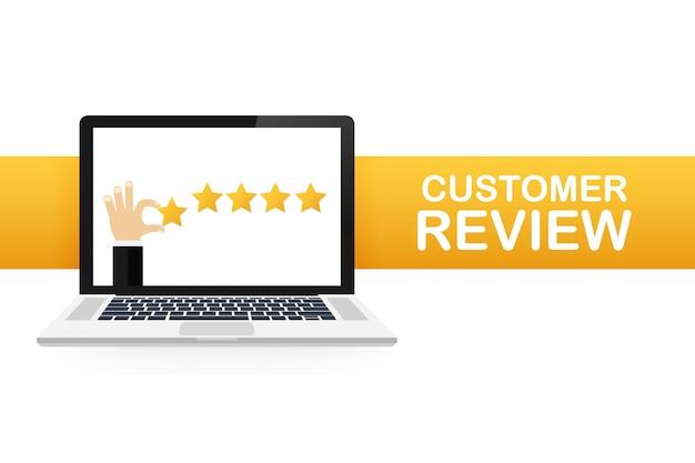 Обзор клиентов, оценка юзабилити, обратная связь, изометрическая система рейтинга. иллюстрация Premium векторы