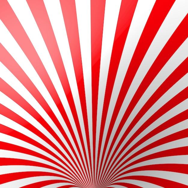 赤の体積の縞模様の背景。 Premiumベクター