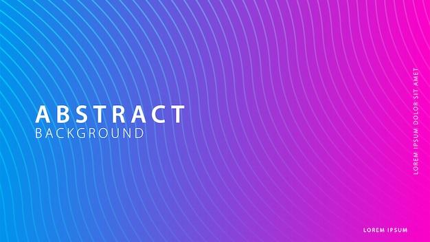 グラデーションの幾何学的形状の背景コレクション Premiumベクター