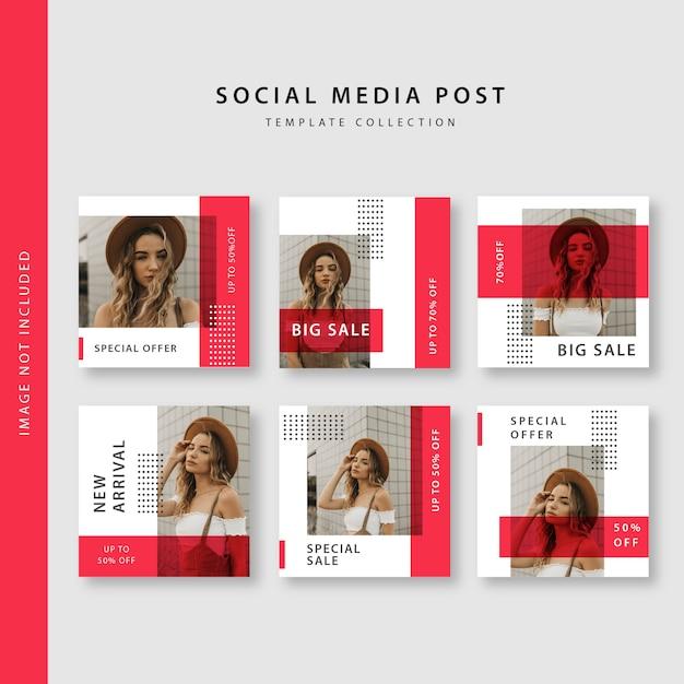 Социальные медиа опубликовать коллекцию шаблонов Premium векторы