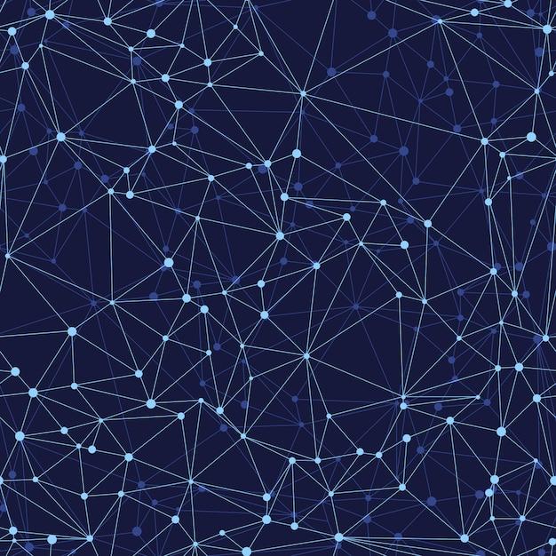 暗い背景にベクトル抽象的なパターンのシームレスな幾何学的なメッシュ Premiumベクター