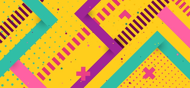 幾何学的なビンテージ背景 Premiumベクター