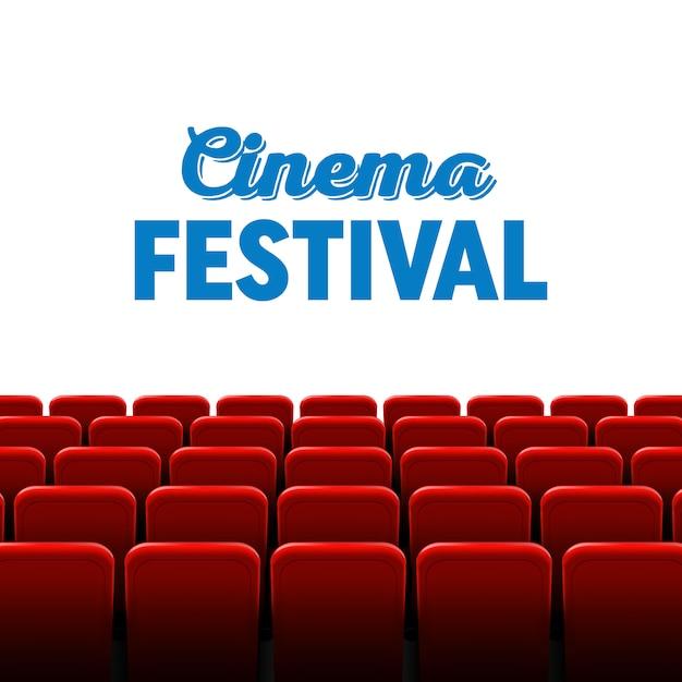 映画館の映画フレームと劇場のインテリア。 Premiumベクター