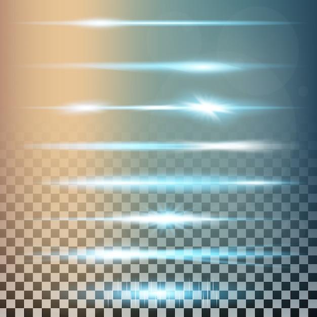 Сияющий световой эффект звезды взрывается блестками. Premium векторы