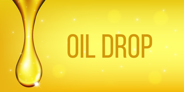 オリーブ燃料液、油滴、輝くコラーゲン。 Premiumベクター