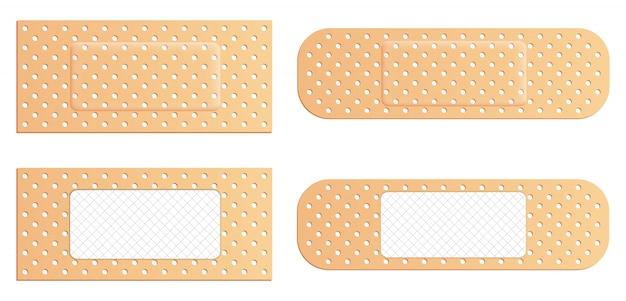 粘着性の包帯弾性医療プラスター、パッチ。 Premiumベクター