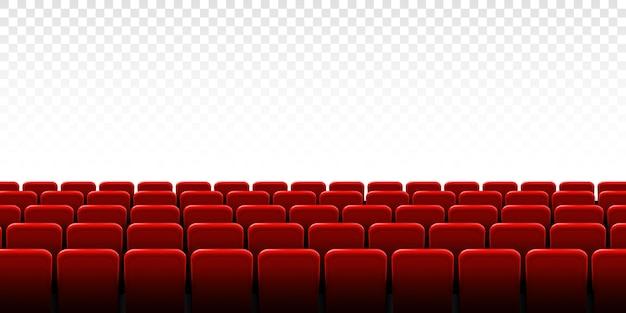 映画館のスクリーンフレームと劇場のインテリア。 Premiumベクター