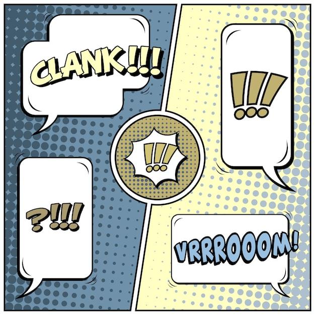 コミックポップアートスタイルの空白 Premiumベクター