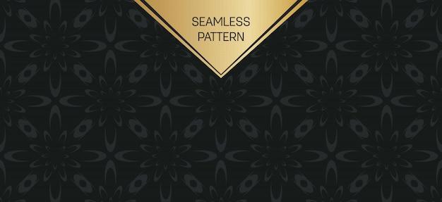 Монохромный геометрический рисунок фона набор. Premium векторы
