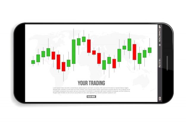 Сигналы на графике торговли форекс, индикаторы продаж. Premium векторы