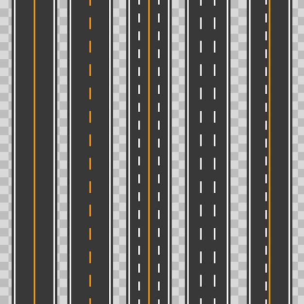 水平直線シームレス道路、道路、高速道路 Premiumベクター